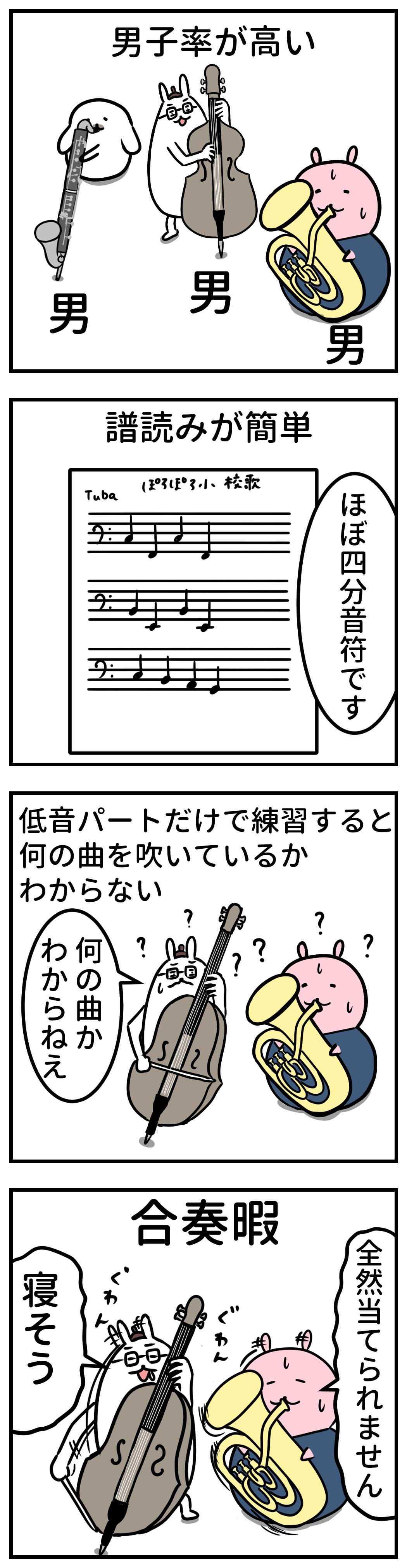 吹奏楽部あるある 低音パート